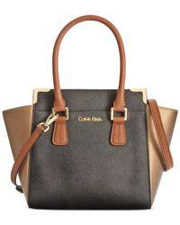Calvin Klein Black On My Corner Saffiano Crossbody