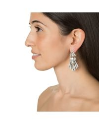 Ben-Amun | Metallic Large Deco Crystal Earrings | Lyst