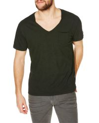 Replay | Green Jersey V-neck T-shirt for Men | Lyst