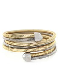 BCBGeneration | Metallic Two-tone Coil Wrap Bracelet | Lyst