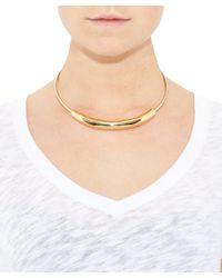 Jennifer Fisher | Metallic Large Gold-plated Cylinder Choker | Lyst