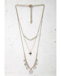 Forever 21 - Metallic Coin Pendant Necklace Set - Lyst
