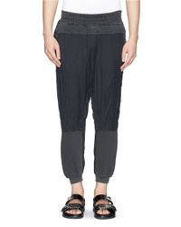 Haider Ackermann - Gray Mixed Media Jogging Pants for Men - Lyst
