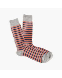 J.Crew | Gray Triple-stripe Socks for Men | Lyst
