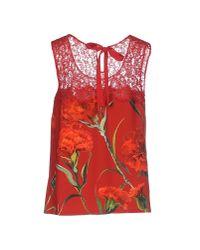 Dolce & Gabbana - Red Vest - Lyst