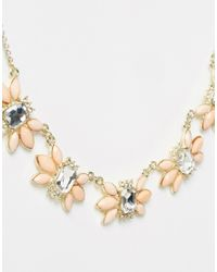 Oasis - Pink Asis Mini Butterfly Stone Necklace - Lyst