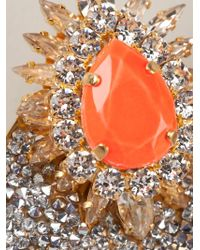 Shourouk | Orange 'Luna Comet' Clip-On Earrings | Lyst