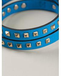Valentino Blue Rockstud Bracelet