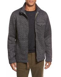 Relwen | Gray Tweed Fleece Zip Jacket for Men | Lyst