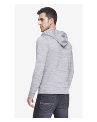 Express - Black Space Dyed Fleece Zip Hoodie for Men - Lyst