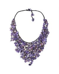Aeravida | Handmade Purple Amethyst V-shape Chandelier Necklace | Lyst