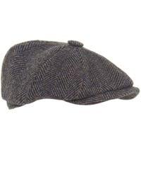 Olney Gray Harris Tweed Flat Cap for men