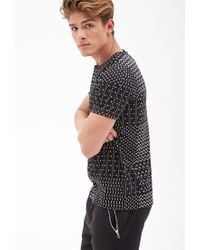 Forever 21 | Black Mixed Triangle Print Tee for Men | Lyst