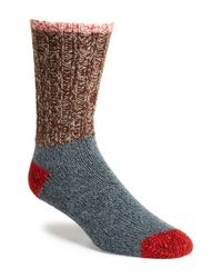 Woolrich Metallic Colorblock Merino Wool Blend Socks for men