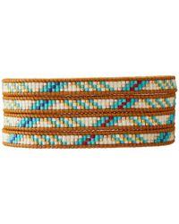 "Chan Luu Multicolor 32"" Turquoise Mix/Henna Seed Bead Wrap Bracelet"