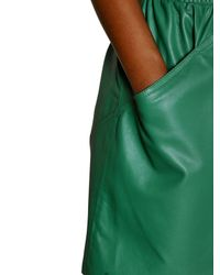 KENZO Green Nappa Leather Skirt