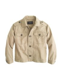 J.Crew - Natural Relaxed Military Shirt-jacket - Lyst