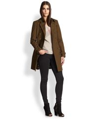 Burberry Brit - Green Crombrook Trenchcoat - Lyst