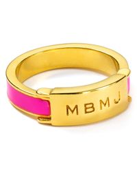Marc By Marc Jacobs | Pink Logo Engraved Ring | Lyst