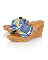 Lotus - Blue Luisa Wedge Sandals - Lyst
