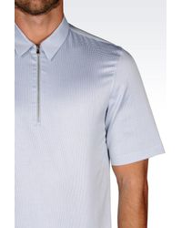 Emporio Armani | White Short Sleeve Shirt for Men | Lyst