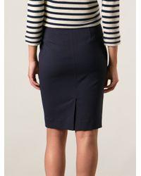 Tory Burch Blue Zelma Skirt