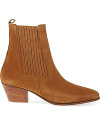 Sandro | Brown Amelya Heeled Suede Chelsea Boots | Lyst