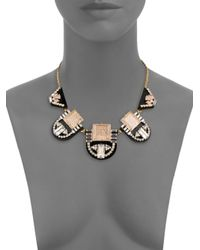 kate spade new york - Metallic Imperial Tile Bib Necklace - Lyst