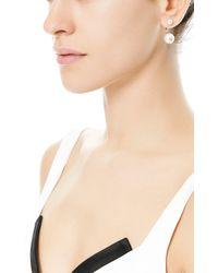 Delfina Delettrez   White Double Pearl Single Earring   Lyst
