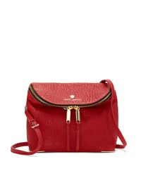 Vince Camuto | Red Marl Leather Crossbody Bag | Lyst