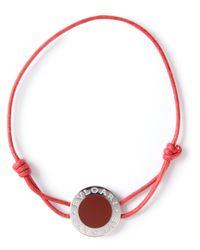 BVLGARI | Red Adjustable Bracelet | Lyst