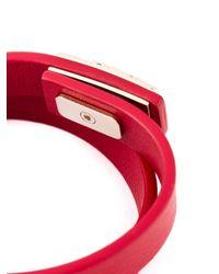 Ferragamo | Red Gancio Wrap Around Bracelet | Lyst