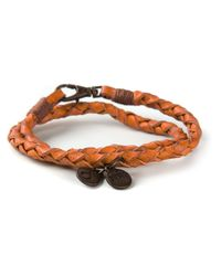 DIESEL | Yellow Double Braided Bracelet | Lyst