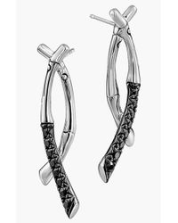 John Hardy | Metallic 'bamboo - Lava' Sapphire Drop Earrings | Lyst