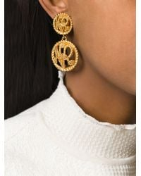Nina Ricci | Metallic Logo Clip-on Earrings | Lyst