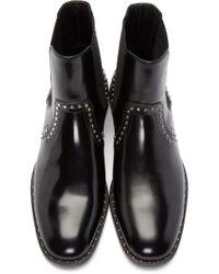 Jimmy Choo Black Studded Fergus Boots for men
