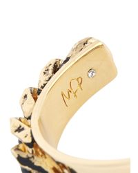 MFP MariaFrancescaPepe - Metallic Gold Plated Distressed Chain Cuff - Lyst
