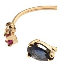 Loren Stewart - Blue Sapphire, Ruby & Yellow-Gold Scarlett Ring - Lyst