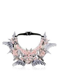 Heaven Tanudiredja | White Gold & Blush Rose Necklace | Lyst