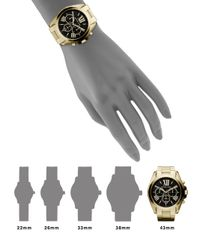 Michael Kors - Metallic Bradshaw Chronograph Goldtone Ip Stainless Steel Bracelet Watch - Lyst