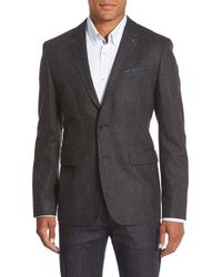 Ted Baker | Gray 'edeson' Textured Two-button Blazer for Men | Lyst