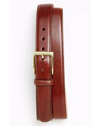 Trafalgar - Brown 'cortina' Leather Belt for Men - Lyst