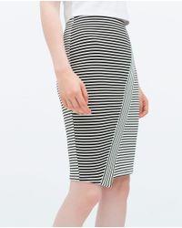 Zara | Black Midi Skirt | Lyst