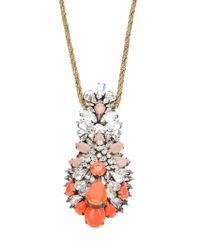 Shourouk - Orange 'Leitmotiv Hindi' Necklace - Lyst