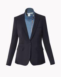 Veronica Beard - Black Classic Jacket With Denim Moto Dickey - Lyst