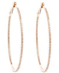 Rosa De La Cruz - Metallic Small 18K Hoop Earrings - Lyst
