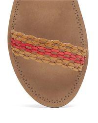 Lucky Brand | Brown Alddon Woven Slide Sandals | Lyst