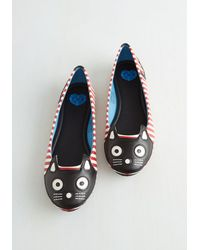 T.U.K. Red Up Your Alley Cat Flat In Stripes