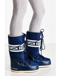 Tecnica | Blue Nylon Moon Boot | Lyst