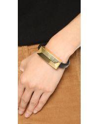Rebecca Minkoff Metallic Iphone Usb Lightning Cable Bracelet - Gold/black